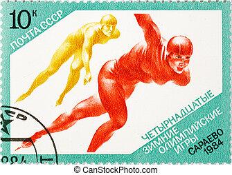 postage stamp dedicated to the sports category. Sarajevo