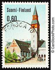 Postage stamp Finland 1983 National Museum, Helsinki, Finland