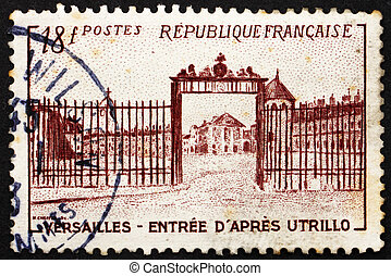 Postage stamp France 1952 Versailles Gate by Utrillo -...
