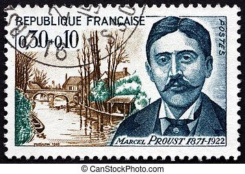Postage stamp France 1966 Marcel Proust, French Novelist -...