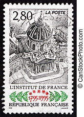 FRANCE - CIRCA 1995: a stamp printed in the France shows The French Institute, Bicentenary, circa 1995