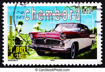 Postage stamp France 2000 Simca Chambord, Automobile