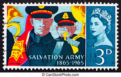 Postage stamp GB 1965 Salvation Army Band - GREAT BRITAIN -...