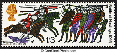 Postage stamp GB 1966 Battle of Hastings - GREAT BRITAIN ?...