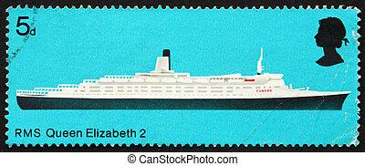 Postage stamp GB 1969 R.M.S. Queen Elizabeth 2, British Ship