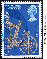 Postage stamp GB 1978 Gold State Coach