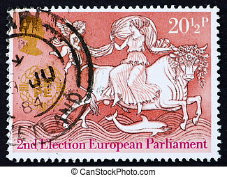 Postage stamp GB 1984 Abduction of Europa - GREAT BRITAIN -...