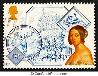 Postage stamp GB 1987 Portrait of Queen Victoria