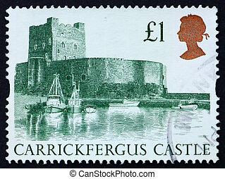 Postage stamp GB 1988 Carrickfergus Castle - GREAT BRITAIN -...