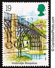 Postage stamp GB 1989 Iron Bridge