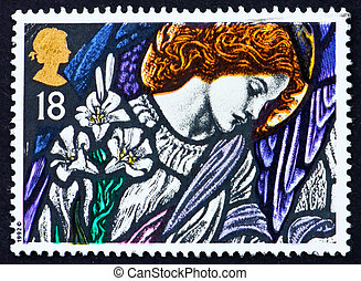 Postage stamp GB 1992 Angel Gabriel - GREAT BRITAIN - CIRCA...