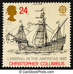 Postage stamp GB 1992 Discovery of America - GREAT BRITAIN -...