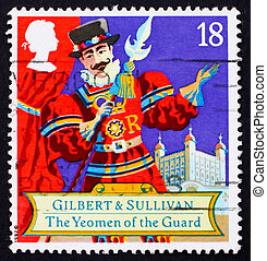 Postage stamp GB 1992 Scene from comic opera - GREAT BRITAIN...
