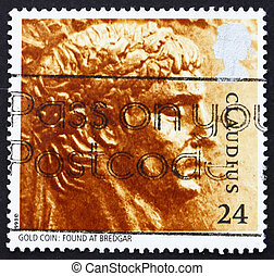 Postage stamp GB 1993 Gold Aureus from Claudius