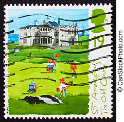 Postage stamp GB 1994 St. Andrews, old course - GREAT...