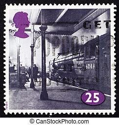 Postage stamp GB 1996 Locomotive at King Cross Station