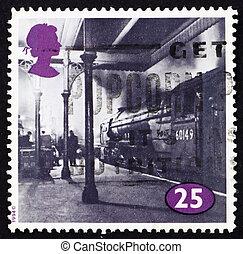 Postage stamp GB 1996 Locomotive at King Cross Station