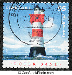 postage stamp - German Democratic Republic - CIRCA 2005:...