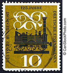 Postage stamp Germany 1960 Steam Locomotive