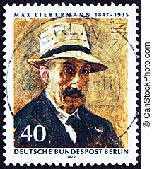 Postage stamp Germany 1972 Max Liebermann, Self-portrait -...