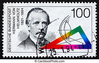 GERMANY - CIRCA 1994: a stamp printed in the Germany shows Hermann von Helmholtz, Scientist, circa 1994