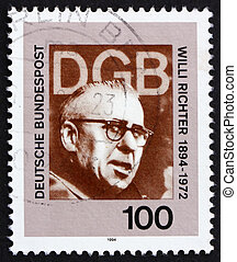 Postage stamp Germany 1994 Willi Richter, Politician -...