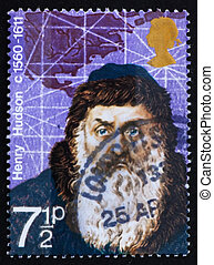 Postage stamp GREAT BRITAIN 1972 Henry Hudson