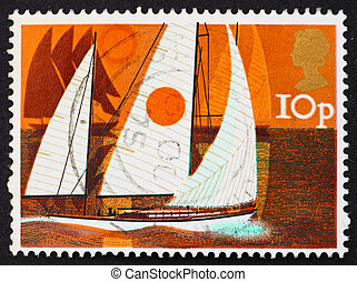 Postage stamp GREAT BRITAIN 1974 Cruising yachts