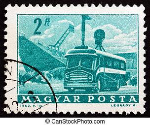 Postage stamp Hungary 1963 Mobile Radio Transmitter