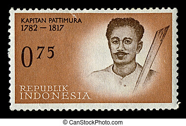 Postage stamp. - INDONESIA-CIRCA 1961:A stamp printed in ...