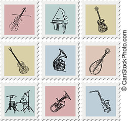 Postage stamp instruments