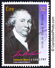 Postage stamp Ireland 1990 Edmund Burke, Statesman - IRELAND...