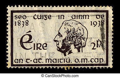 Postage stamp. - IRELAND-CIRCA 1938:A stamp printed in ...