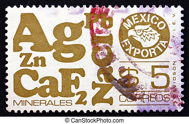 Postage stamp Mexico 1978 Minerals, Mexican Export