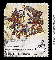 Postage stamp. - Mexico-CIRCA 1992:A stamp printed in Mexico...