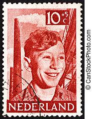 Postage stamp Netherlands 1951 Boy, Chimneys and Steelwork