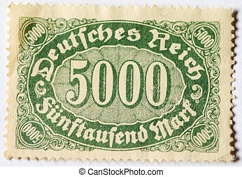 Postage stamp of 5000 mark