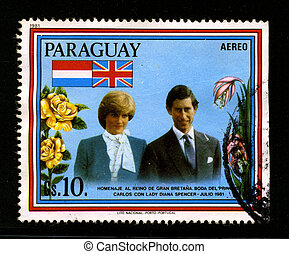 Postage stamp. - PARAGUAY-CIRCA 1981:A stamp printed in...