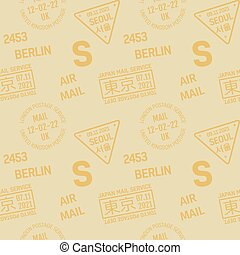 Postage stamp pattern