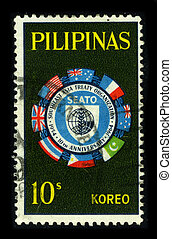 Postage stamp. - PHILIPPINAS-CIRCA 1964:A stamp printed in ...