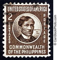Postage stamp Philippines 1946 Jose Rizal, National Hero -...