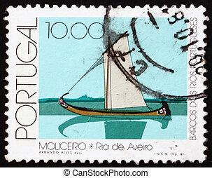 Postage stamp Portugal 1981 Moliceiro, Aveiro River