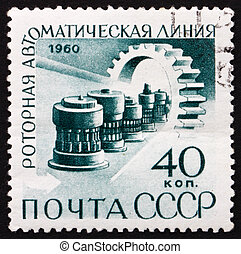Postage stamp Russia 1960 Automatic Production Line