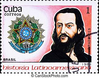 postage stamp shows Jose da Silva Xavier - CUBA - CIRCA...