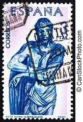 Postage stamp Spain 1962 Christ, Ecce Homo, Sculpture by...