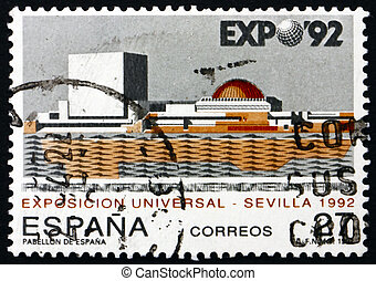 Postage stamp Spain 1992 EXPO ?92, Seville - SPAIN - CIRCA...