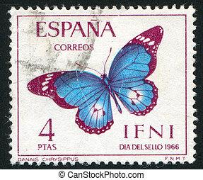 postage stamp - SPAIN - CIRCA 1966: stamp printed by Spain,...