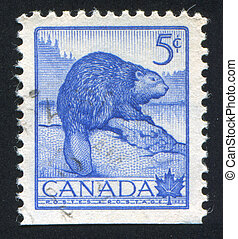 postage stamp - CANADA - CIRCA 1954: stamp printed by...