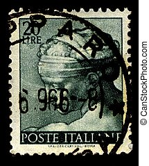 Postage stamp. - Italy-CIRCA 1961:A stamp printed in Italy...