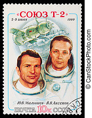 Postage Stamp - USSR - CIRCA 1980: A stamp printed in the...
